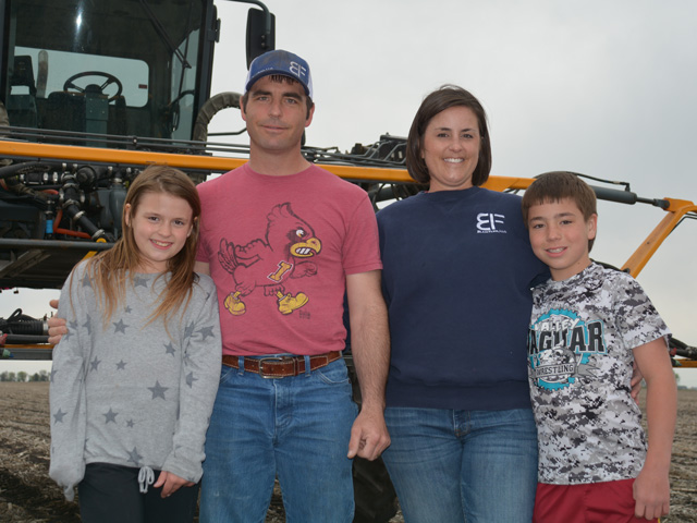 Kellie Blair will be reporting from Dayton, Iowa, as one of DTN's View From the Cab farmers this season. She farms with her husband, AJ, and children, Charlotte and Wyatt. (DTN/Progressive Farmer photo by Matthew Wilde)